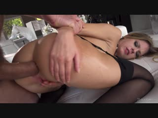 Rebecca Volpetti - Rebecca Getting Ass-Banged [Blonde, Teen, Natural Tits, Big Ass, Straight, Anal, Facial, Lingerie, Stockings]