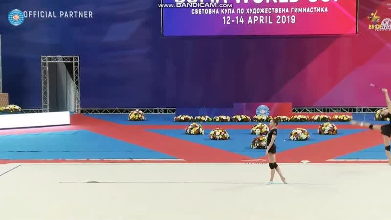 Анастасия Салос лента (опробование)-Кубок Мира София 2019