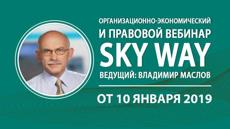 Вебинар от 10.01.2019. Организационно-экономический и правовой вебинар SkyWay.