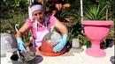 Aprenda a fazer um vaso de flor em forma de taça
