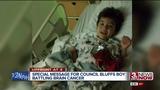 'Iron Man' Robert Downey Jr. sends message to Council Bluffs boy with brain cancer