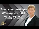 Как скачать видео в Instagram с ПК Batel Online