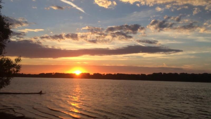Восход солнца на реке Обь Безумно красиво The sunrise in Novosibirsk River Ob