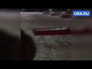 Вдова в Самаре поставила гроб с телом мужа напротив здания правительства региона