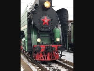 22.11.18 встреча ретро поезда на станции БЕЛЫЕ БЕРЕГА