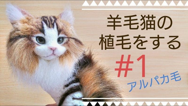 羊毛フェルト 猫を植毛する 1 クラシックタビー Classic Tabby How To Make Needlefelting Cat Doll