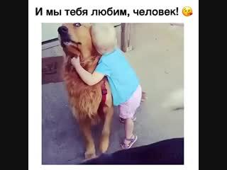Любовь к животным прививается с детства!