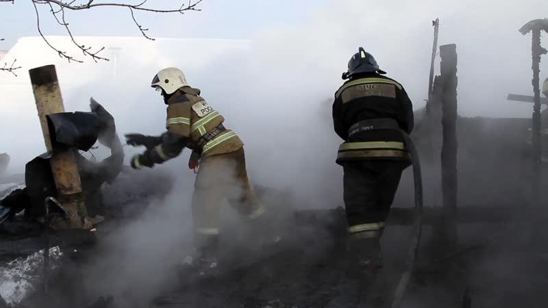 2019-01-16 Пожар в частном доме ул. Осоавиахимовская