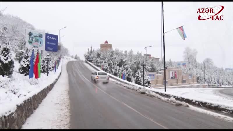 В Азербайджане сохраняются нестабильные погодные условия,сильный снег. Азербайджан Azerbaijan Azerbaycan БАКУ BAKU BAKI Карабах