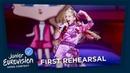 Efi Gjika - Barbie - First Rehearsal - Albania 🇦🇱 - Junior Eurovision 2018