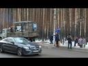 Установка новой остановки в Академгородке Красноярск 16 02 2019