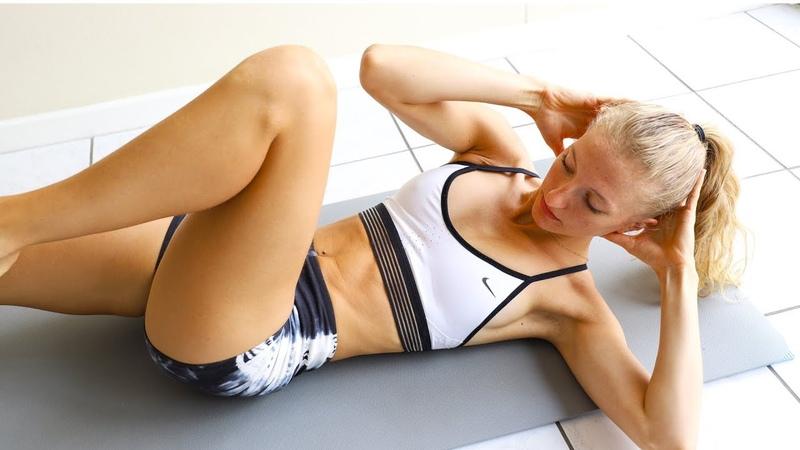 Madie Lymburner - 10 min Beginner Ab Workout | Несложная тренировка на пресс для новичков
