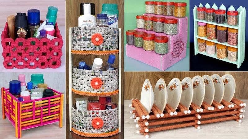 10 DIY Home And Kitchen Organization Idea Handmade Things