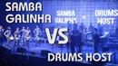 DRUM SHOW CONTEST - 2018 SAMBA GALINHA vs DRUMS HOST (2nd ROUND)