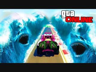 TheWarpath ВОДА С АКУЛАМИ ЭТО ЛАВА - 1% ПРОХОЖДЕНИЯ САМЫХ ОПАСНЫХ ГОНОК ПО УЗКОЙ ТРОПЕ - УГАР в GTA 5 Online