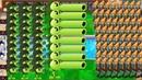 Threepeater vs Winter Melon vs Gatling Pea vs Cob cannon vs 999 Zombies