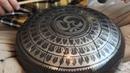 Phrygian Handmade steel tongue drum with Aum mandala