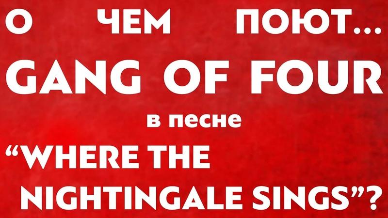 Монархизм и реакция в песне Where the Nightingale Sings группы Gang of Four POLITROCK
