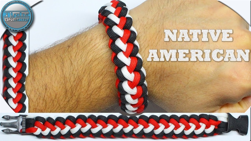 World of Paracord Awesome Paracord Bracelet Native American How to Make Paracord Bracelet DIY