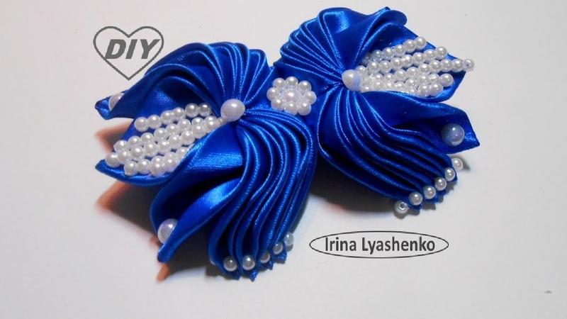 Бант из лент для торжества МК DIY Elegant ribbon bow PAP Laço de fita elegante 207