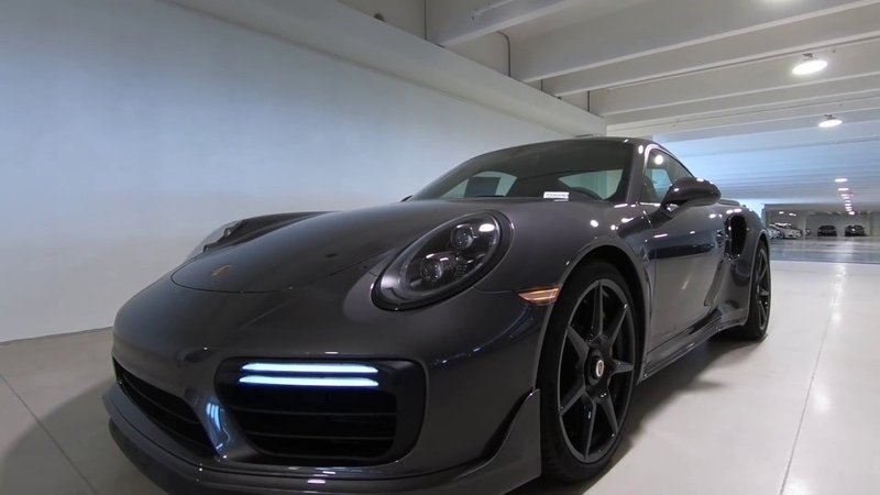 REVIEW of this 2019 580 hp Agate Grey Porsche 911 Turbo S P940068