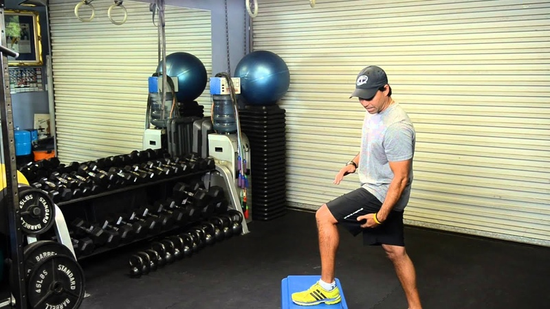 Step-Ups for Hamstrings Exercise Routines
