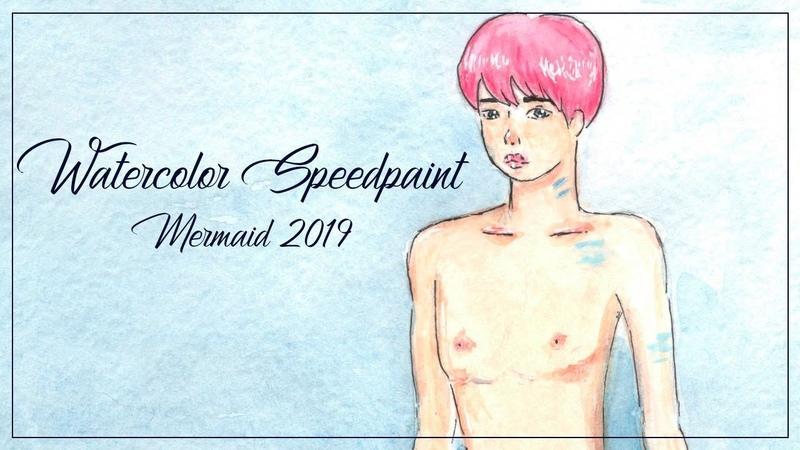 Watercolor Speedpaint Mermaid 2019
