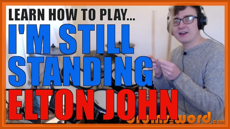 ★ I'm Still Standing Elton John ★ Drum Lesson PREVIEW How To Play Song Nigel Olsson