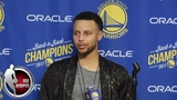 Steph Curry says if ring ceremony ever gets to a blah moment slap him in the face NBA Sound