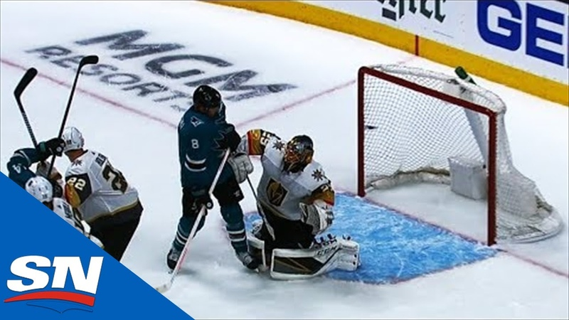 Brent Burns' Point Shot Hits Joe Pavelski In Face, Deflects Past Marc-Andre Fleury