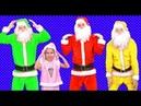 Head shoulders knees and toes Christmas Santa Dance Song cartoon Merry Christmas kid nursery rhymes