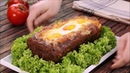 Хлеб мясной с начинкой из сыра яйца и бекона