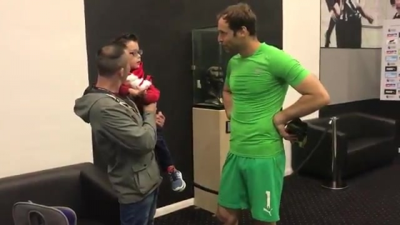 6 months ago Petr Cech bought Theo a specialised walking frame and it has changed his life ever since.. Yesterday our little The