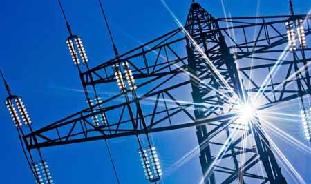 После генерации мощность распределяется по электросети.