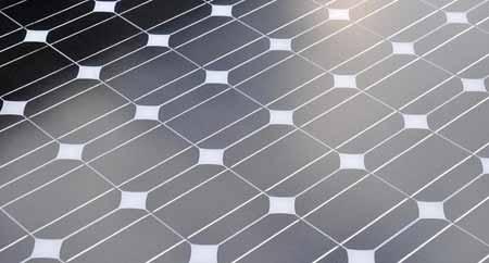 Крупный план панели солнечных батарей