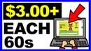 Earn Up To $3.00 Every 60s Simple Typing Job