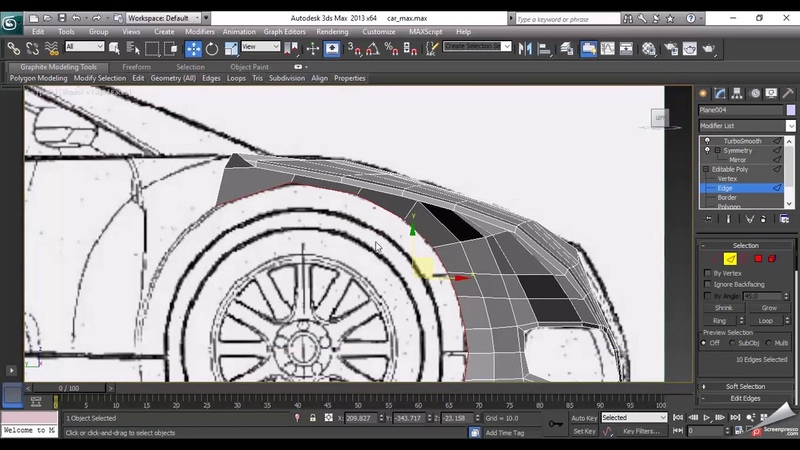 Car Modeling in 3ds Max Tutorial | Modeling low poly Bugatti Veyron in 3DS Max | Lesson - 2