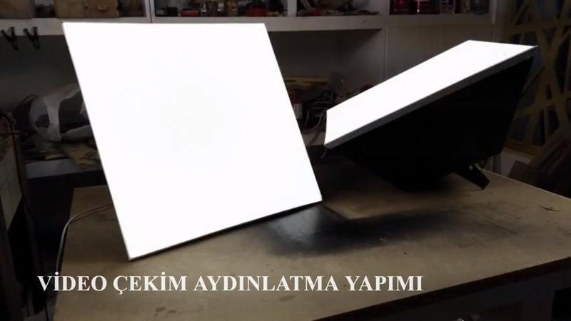 Youtube video çekimi için gerekli aydınlatma sistemi yapımı KENDİN YAP