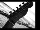B Major Fun And Funky Guitar Backing Track 100 BPM
