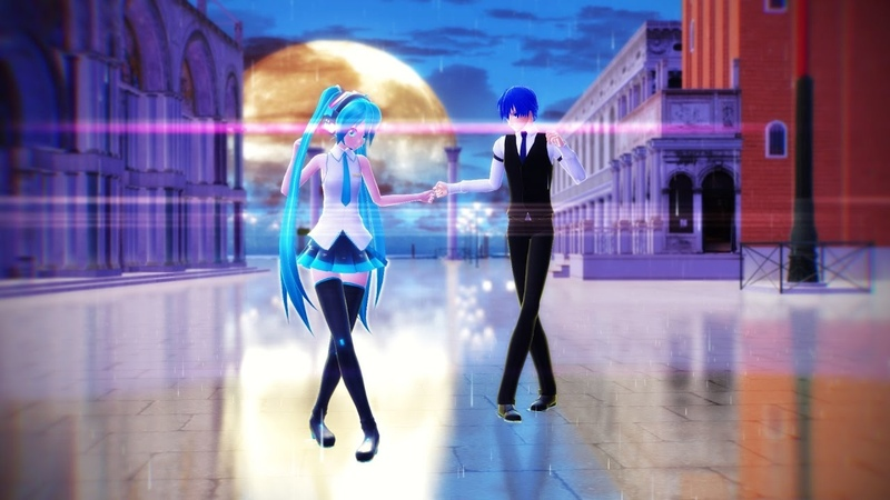 MMD - Hung up (Rin, Len, Miku Kaito)