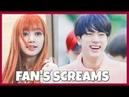 KPOP IDOLS vs FAN'S SCREAMS 1 - BTS EXO BLACKPINK TWICE GOT7 ETC