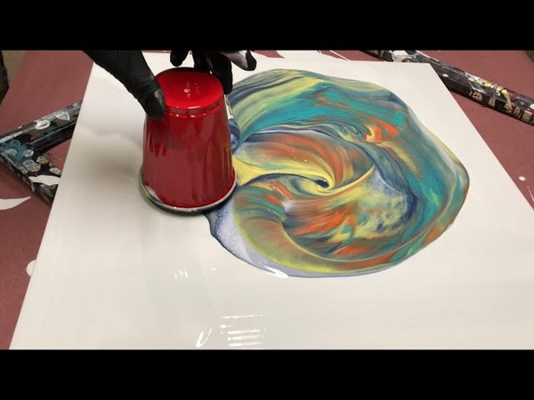 Fluid Painting Acrylic Dirty Pour CUP POP Fluid Painting Beginners Technique Wigglz Art