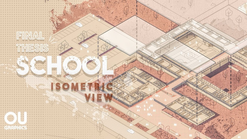 School Final Thesis - Isometric View in Photoshop