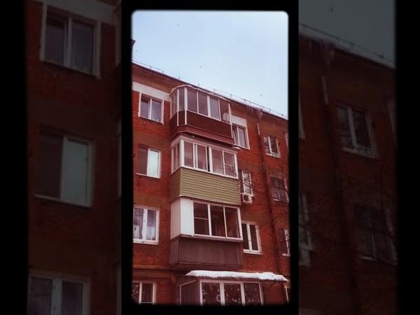 20.01.2019. Полёт лысой чудо-ёлки с 4-го этажа.