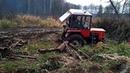 Тракторы Т 25 Т 30 месят грязь на бездорожье Мал золотник да дорог Подборка