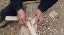 农村老爷爷把三根木头无缝锁住成三角,不用一颗钉子,这技术了得