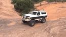 Ford Bronco drives Escalator on Hell's Revenge in Moab Utah