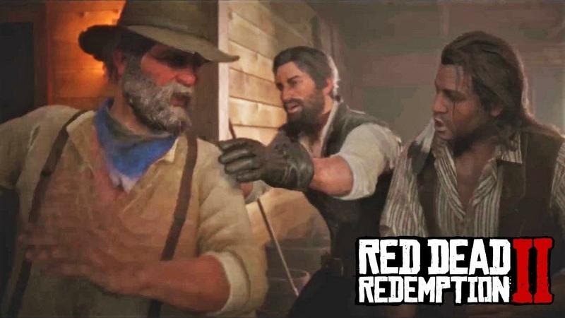 Red Dead Redemption 2 - Джон, Дядюшка и Чарльз напиваются