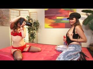 Allie haze gets lexi belle's honey pot soaking wet / girlfriends 3 lesbian, lingerie, brunette, blonde