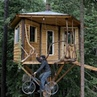 "ADVENTURE ▼ TRAVEL ▲ NATURE on Instagram: ""⠀ Rad treehouse with a bicycle powered elevator 🚲🏡 Tag a friend you'd stay here with! Video by @cabinp..."